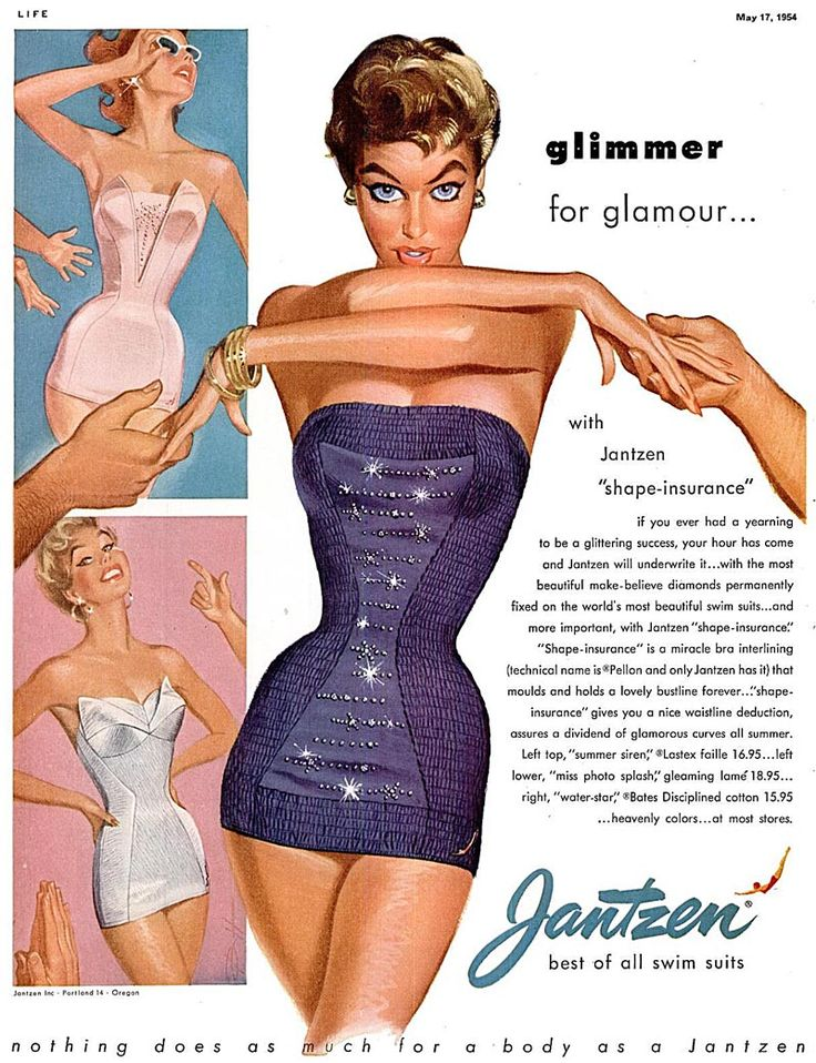 And here's the ad..!!!    Jantzen are an American swimmwear producer, Jantzen costume were sold in the UK too in major department stores. Haven't properly worked out who would of purchased their garments, but I reckon it's more middle and upper end as they aren't found in the mail order catalogues here.