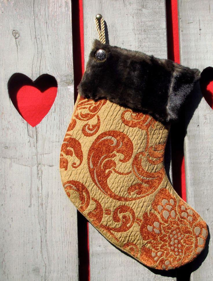 BAS DE NOEL fait main/Christmas stocking hand made de la boutique HOLESBAS sur Etsy