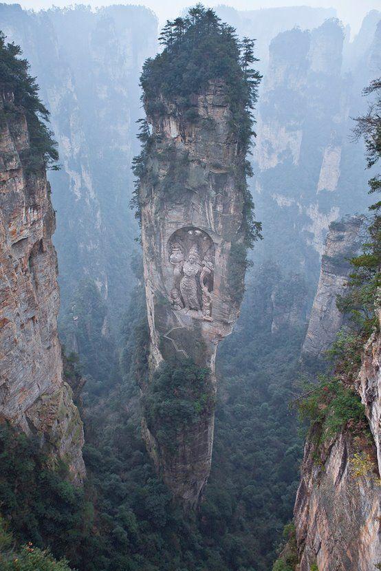 les montagnes de Zhangjiajie, en Chine