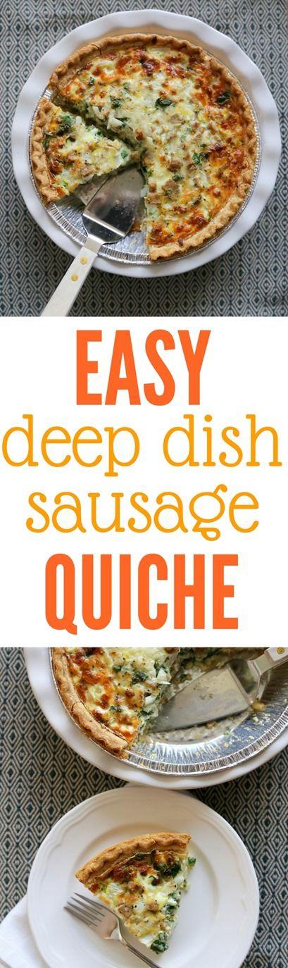 Easy Deep Dish Sausage Quiche Recipe