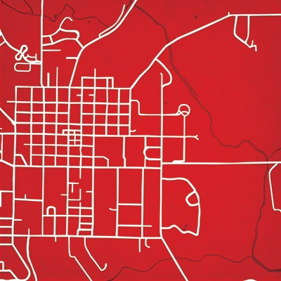 Miami University | City Prints Map Art