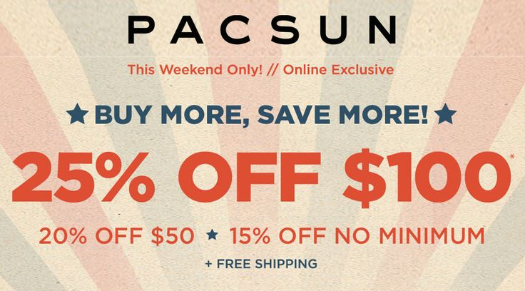 Online Only: Accessories now 25% #Off.  Store : #Pacsun Scope: Entire Store   Ends On : 11/15/2016    Get more deals: http://www.geoqpons.com/Pacsun-coupon-codes  Get our Android mobile App: https://play.google.com/store/apps/details?id=com.mm.views    Get our iOS mobile App: https://itunes.apple.com/us/app/geoqpons-local-coupons-discounts/id397729759?mt=8