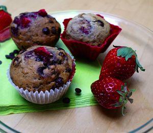 NapadyNavody.sk   Luxusné čokoládovo jahodové muffinky, takmer bez tuku