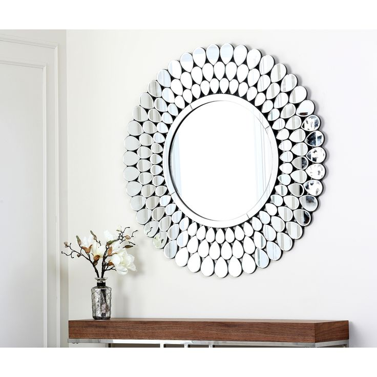 Beautiful Round Wall Mirror Living Room Bathroom Glass Mirrors Gift Brand New