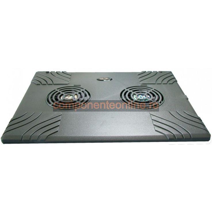 Suport pentru laptop, masuta laptop cu 2 ventilatoare - 114816