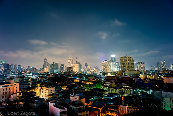 City of lights - Photo taken in the late evening from hotel roof in Bangkok. That was our last night in Bangkok, and we would love to go there one more time.