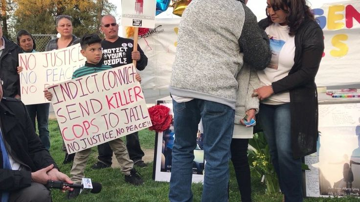 Vigil for Jesus A. Geney Montes, shot and killed by Santa Clara, CA police (video 1 of 2)