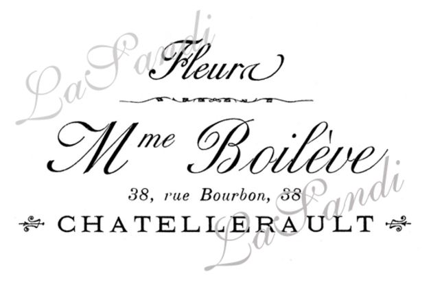 """♥ Bügelbild Vintage ♥ """"Mme Boilève"""" ♥"""