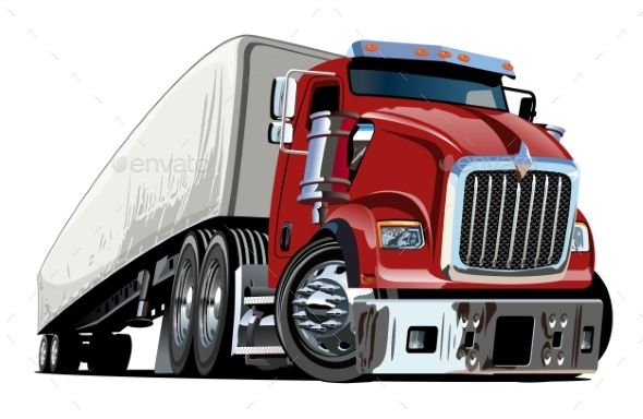 Cartoon Semi Truck Semi Trucks Trucks Cool Truck Accessories