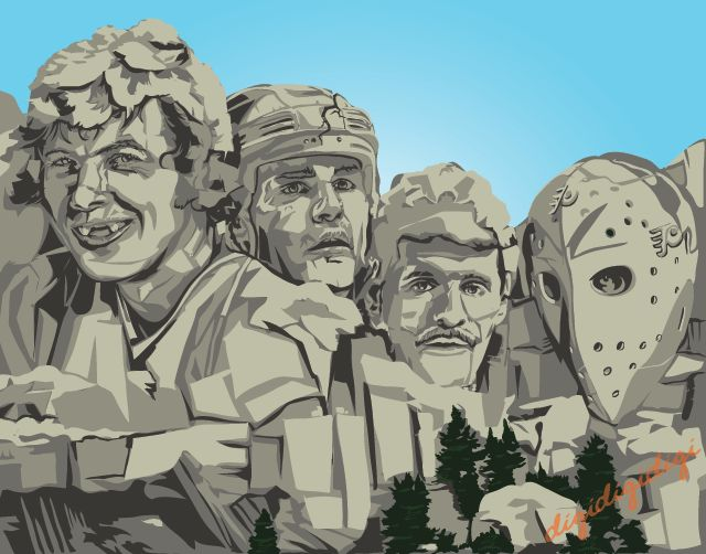 Flyers Mount Rushmore:  Bobby Clarke, Eric Lindros, Ron Hextall and Bernie Parent