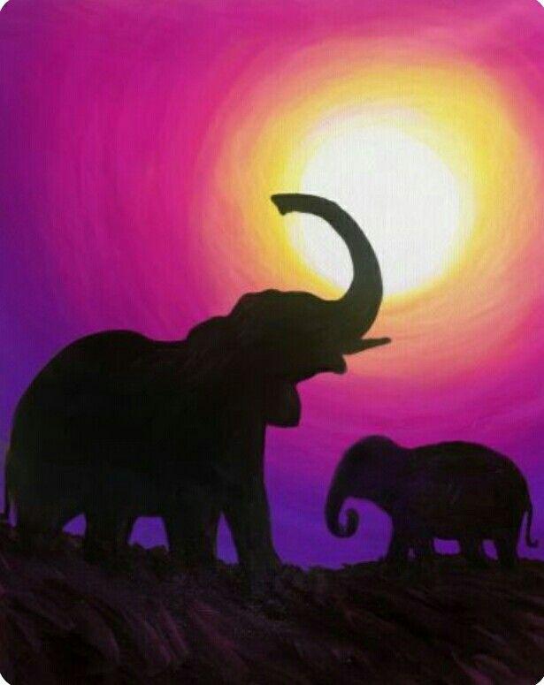 10 best Elephant images on Pinterest | Elephant paintings, Elephants ...