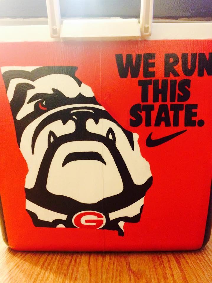 Cooler UGA University of Georgia We Run This State Dawgs Nike