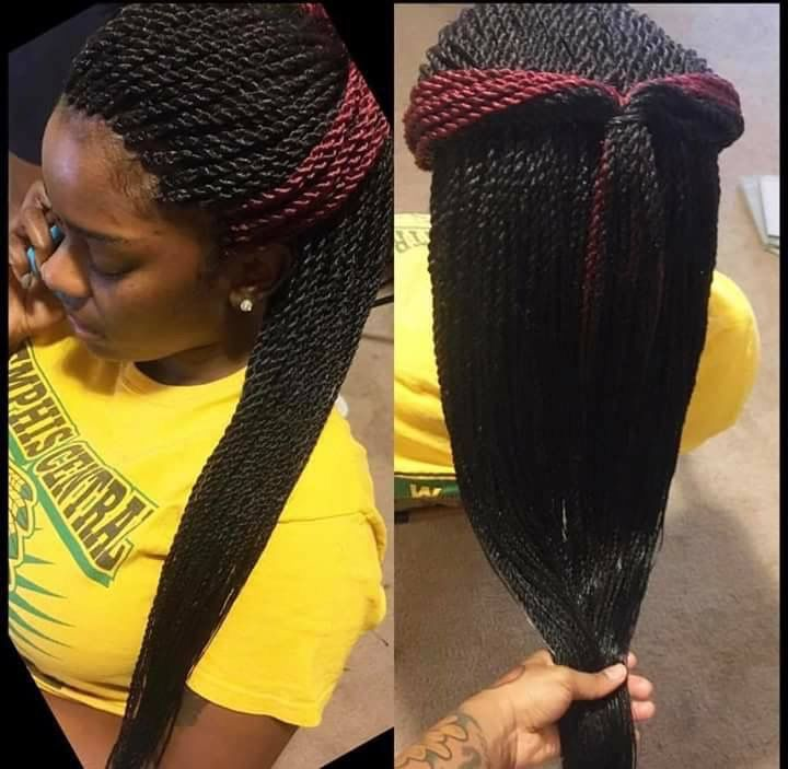 Golden Beauty Senegalese Twist Hair Crochet Braids 18inch Synthetic Hair Extensions 30strands 70g