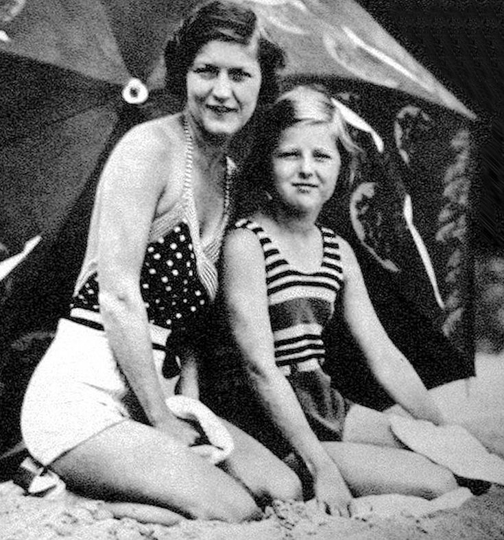 Zelda Fitzgerald, and Scottie Fitzgerald - 1933