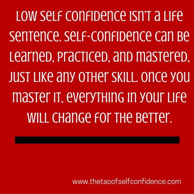 Low self confidence