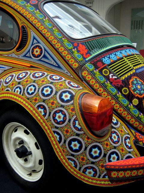 Mexico: Huichol Indian beaded Volkswagen Beetle. Beads!!