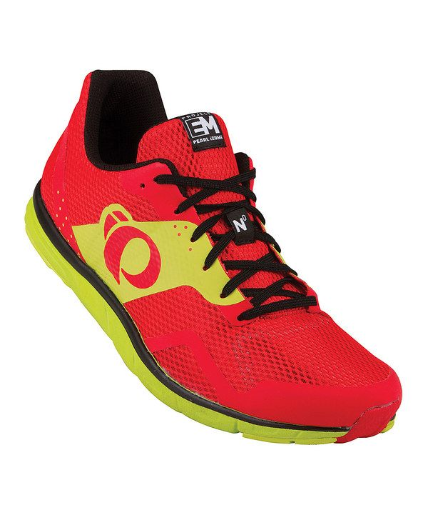 Look at this Pearl Izumi Black & Fiery Red EM Trail N1 Running Shoe on #zulily today!