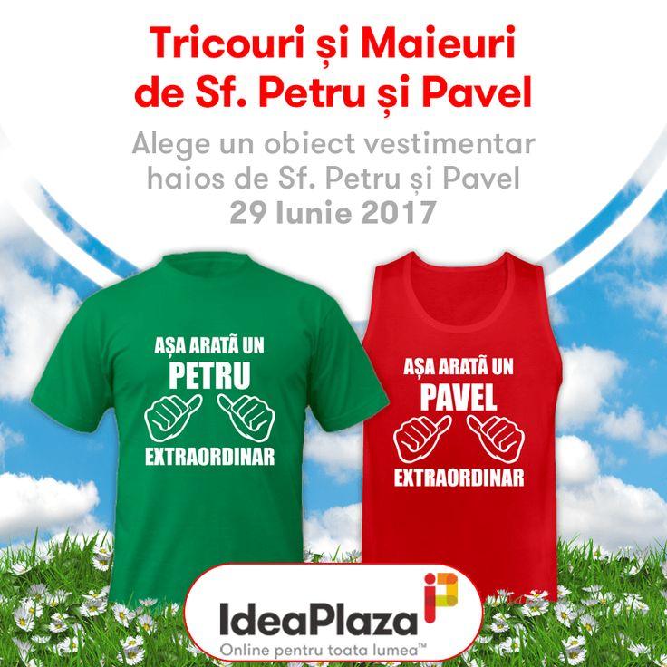 Alege un obiecte vestimentar haios de Sf. Petru si Pavel:   #petru #pavel #tricouri #tricouripersonalizate