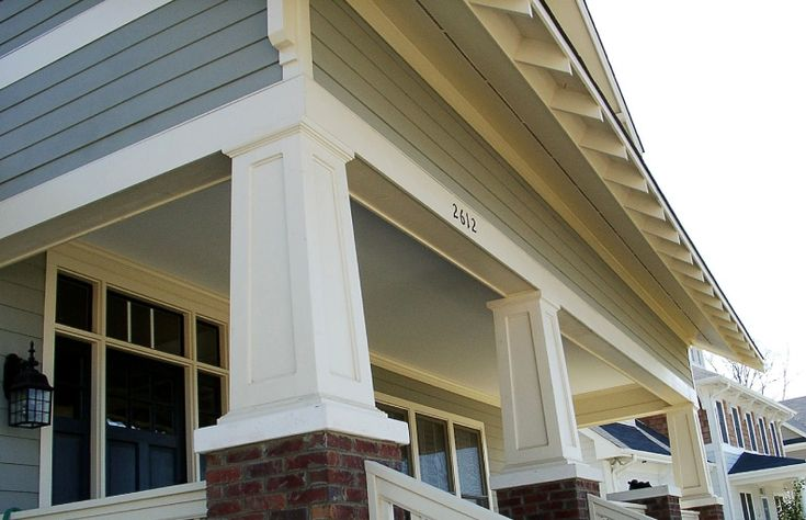 17 Best Images About Porch Ideas On Pinterest Concrete Porch Craftsman And Front Porches