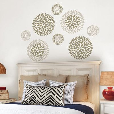Brewster Home Fashions WallPops 8 Piece Chrysanthemum Large Wall Decal Set  U0026 Reviews | Wayfair
