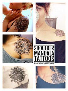 Shoulder mandala tattoo inspiration // Mademoiselle Stef - Blog Mode, Dessin, Paris | Tattoo Ideas
