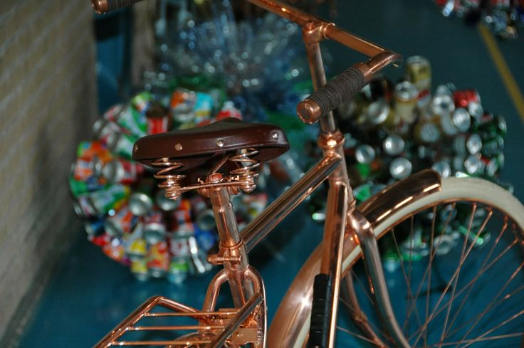 One of Bart van Heesch's copper bikes, definately drool-worty and so cool!