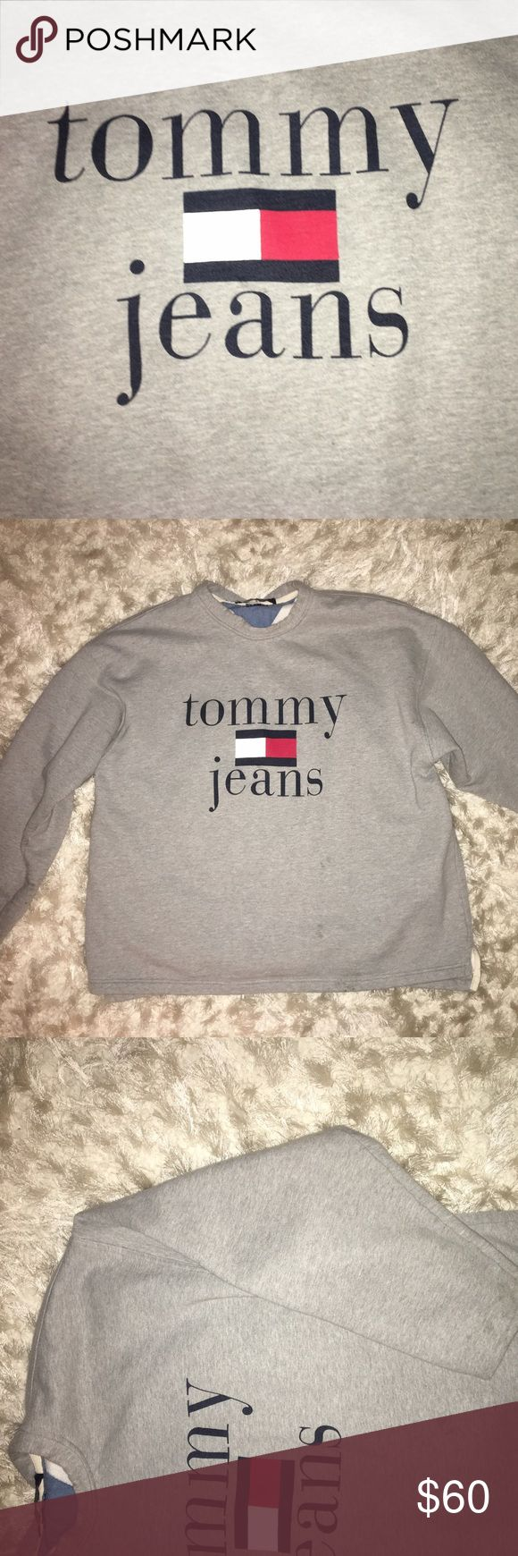 """Tommy Hilfiger Sweatshirt Worn once Tommy Hilfiger Sweatshirt """"Tommy Jeans"""" cozy and cute and stylish and fits everyone Tommy Hilfiger Jackets & Coats"""
