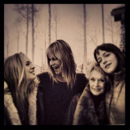 Dakota Johnson Poses With Mom Melanie Griffith and Grandma Tippi Hedren—See 3 Generations of Gorgeous!