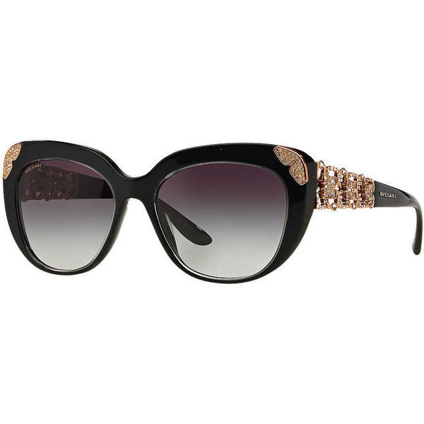 d06ecc6c4399 Bvlgari Bv8162b 55 Black Cat Sunglasses ( 645) ❤ liked on Polyvore  featuring accessories