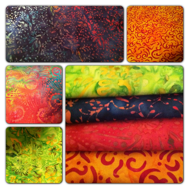 March 15 #FlareFabricsTGIF giveaway. Repin for a chance to win 4 bright batik FQs. Head over to facebook.com/flarefabrics and let us know. #batiks #quilts