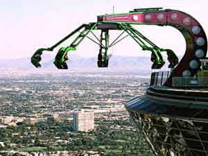 Ride the Rides on the Stratosphere in Las Vegas! yes this is crazy, fun to watch but you won't catch me on it :): Las Vegas, Hells No, Buckets Lists, Stuff, Rollers Coasters, Travel, Things, Places, Norway