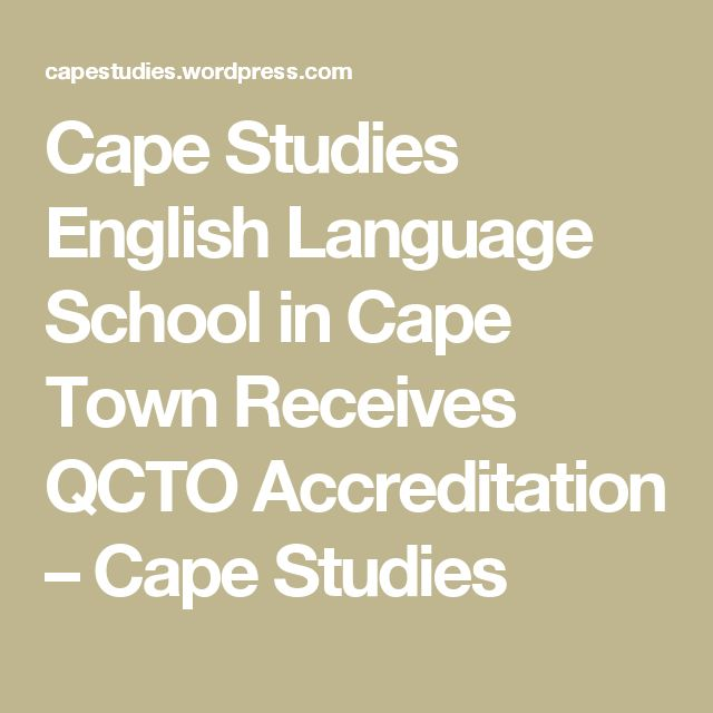 Cape Studies English Language School in Cape Town Receives QCTO Accreditation – Cape Studies