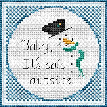 Snowman 2014 free cross stitch pattern