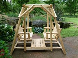 Double adirondack glider plans woodworking projects plans for Log swing plans