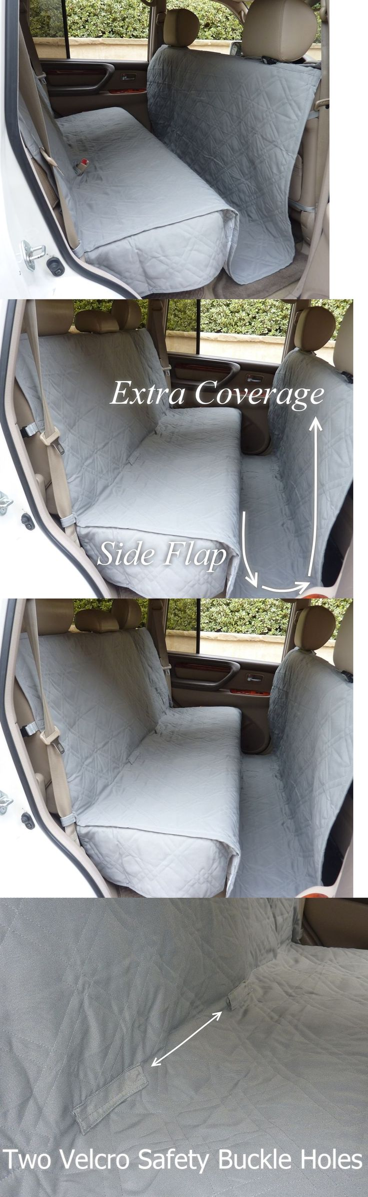 SUVs: Suv Truck Car Back Seat Cover For Dogs And Cats. Quilted And Padded. Gray. New -> BUY IT NOW ONLY: $26.99 on eBay!