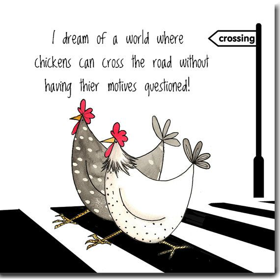 Dream Of A World Greeting Card - Funny Chickens Card