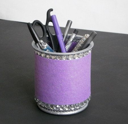 LAVENDER & BLING Pen/Pencil Cup   Lavender by LaurieBCreations, $14.50