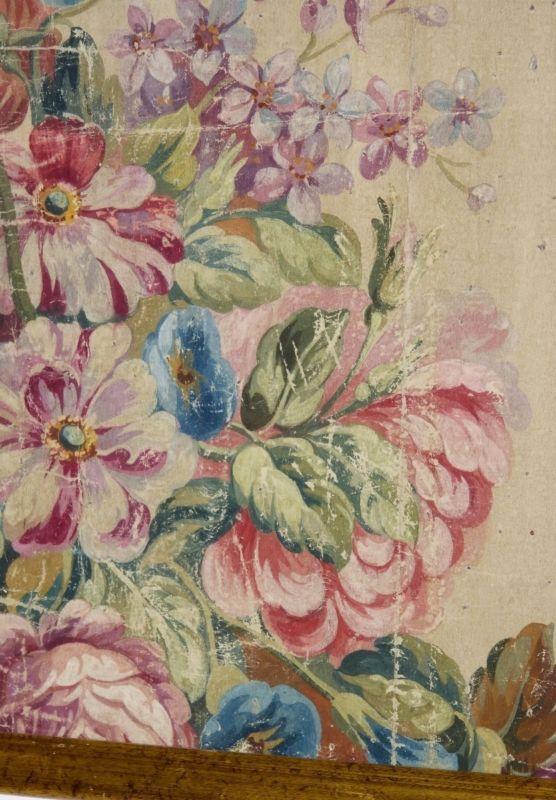 Carton de tapisserie d 39 aubusson fleurs xix me 1 - Tapisserie a peindre ...