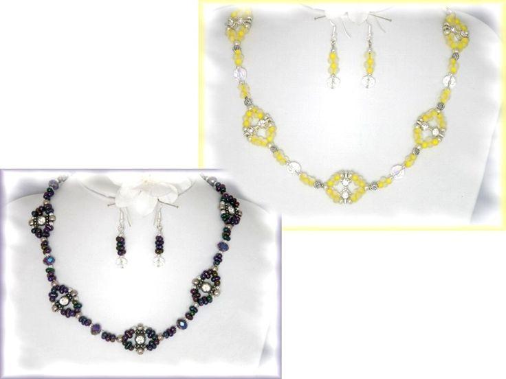 Funkelndes SET mit Strass, gelb, Junge Mode von Alpen-Juwel auf DaWanda.com