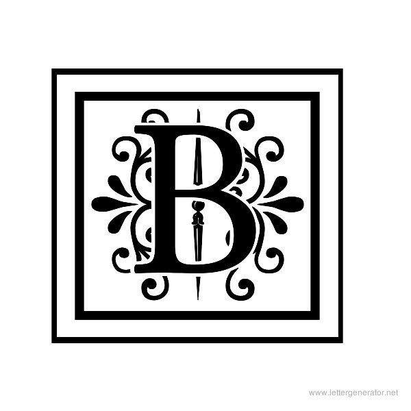 decorative letter b - photo #1