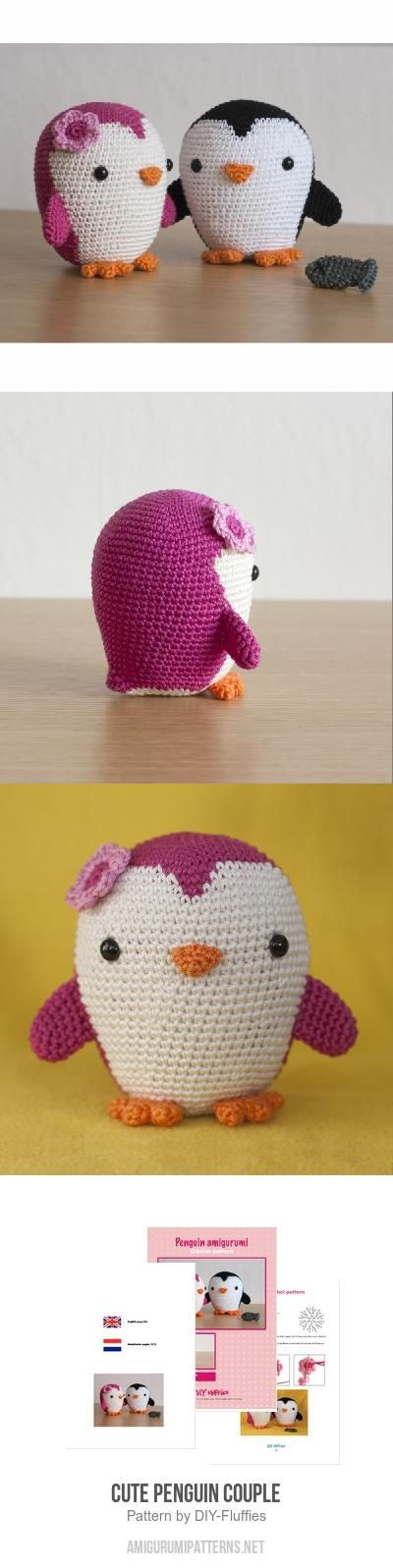 Cute Penguin Couple Amigurumi Pattern