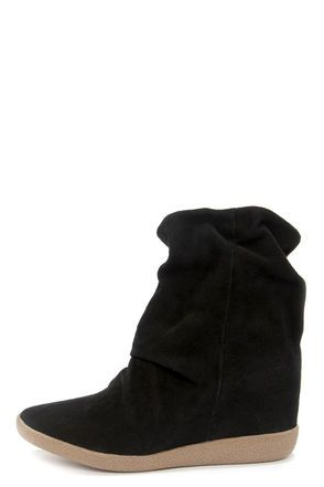 25+ best Black suede wedge boots ideas on Pinterest | Knee high ...