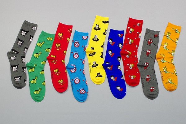 Marvel & DC Socks //Price: $8.00 & FREE Shipping //     #avengers #justiceleague #superman #spiderman