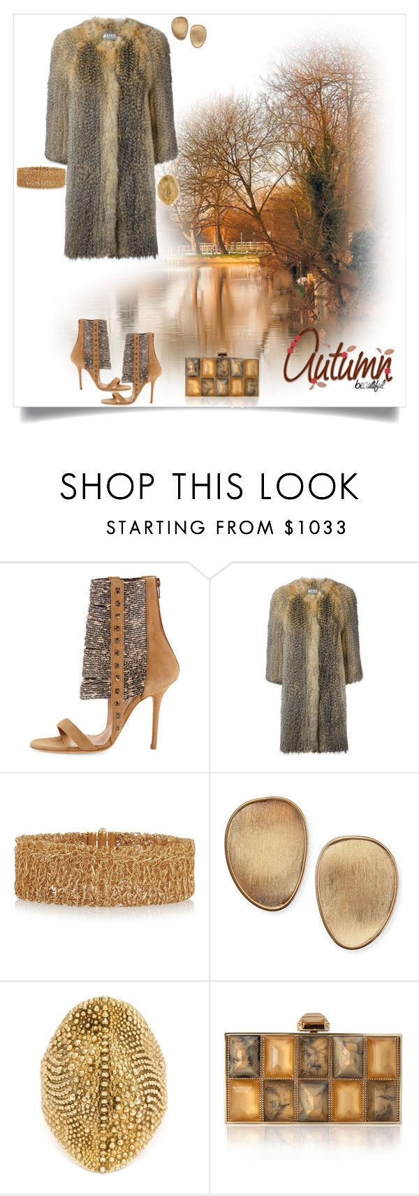 """""""Autumn Beautiful"""" by shoecraycray ❤ liked on Polyvore featuring ALEXA WAGNER, Meteo by Yves Salomon, Carolina Bucci, Marco Bicego, Venyx and Judith Leiber"""