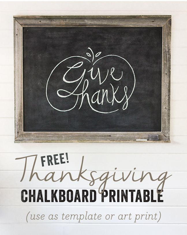Easy Chalkboard Lettering Tutorial + Free Fall Template!