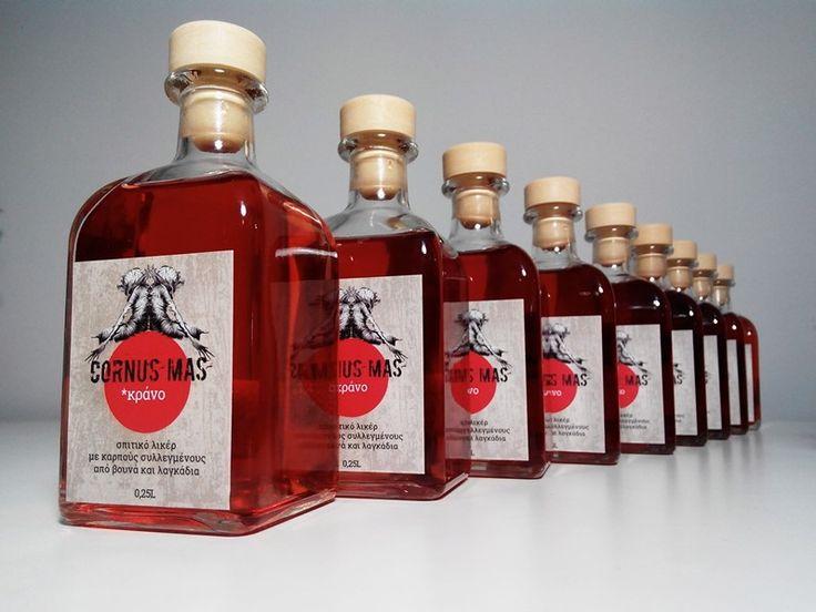 Λικερ κρανο - cornelian cherry (or cornus mas) liqueur