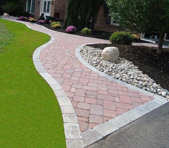 Nice Flared Paver Walkway | Paver Walkways | Green Acres