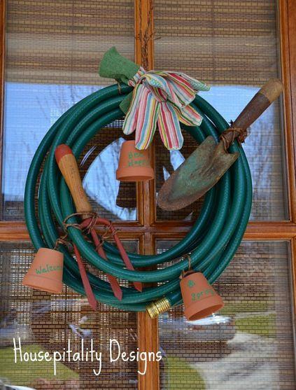 A Garden Hose Wreath! – Garden Shed