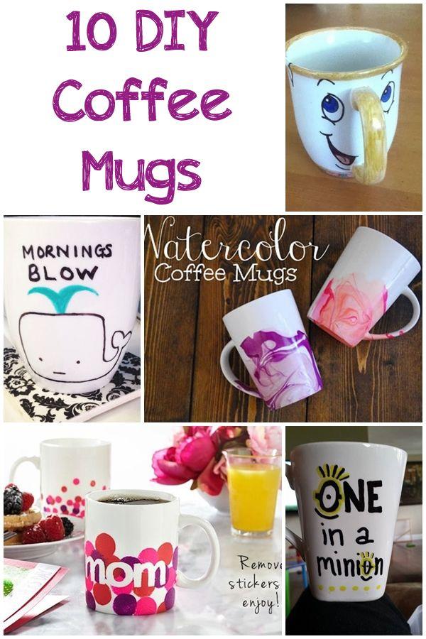 10 DIY Coffee Mugs - Daily DIY Ideas