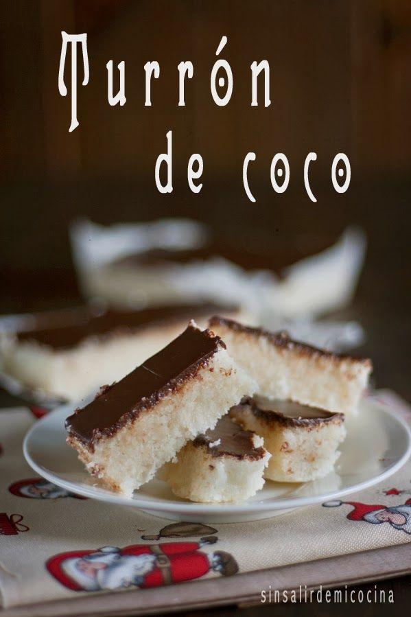 Después de 2 recetas de aperitivo con queso de cabra le toca el turno al dulce-dulce: Un turrón de coco.  Esta receta no es nada nove...